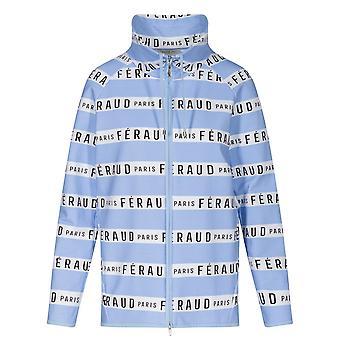 Féraud 3201115-16381 Women's Casual Chic Ringlet Sky Blue Motif Loungewear Jacket Top