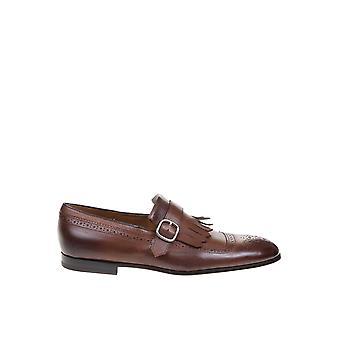 Doucal's Du1622capruf036tm04 Men's Brown Leather Monk Strap Shoes