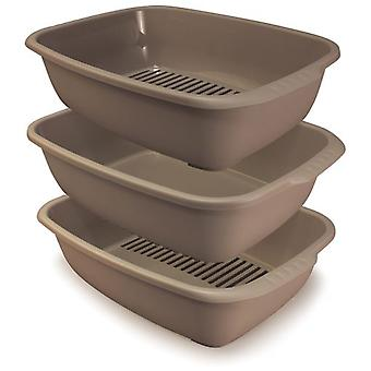 Arquivet Triple Tray Model Miso (Cats , Grooming & Wellbeing , Litter Trays)