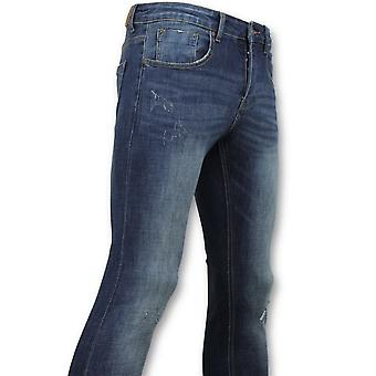 Skinny Basic Jeans - Man Jeans Washed - D3021 - Blue