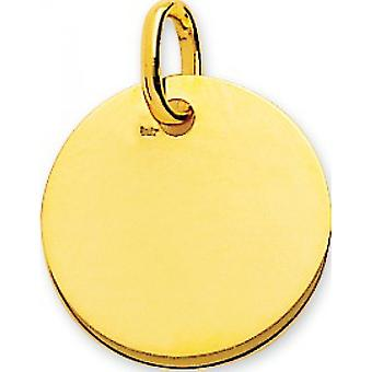 Pingente Round Plate Gold 375/1000 amarelo (9K)