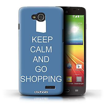 STUFF4 Case/Cover for LG L90 Dual/D410/Go Shopping/Blue/Keep Calm