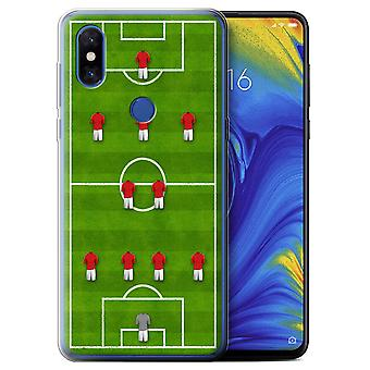 STUFF4 Gel TPU Case/Cover for Xiaomi Mi Mix 3/4-2-3-1/Red/Football Formation
