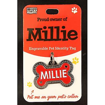 Wags & Viikset Pet Identity Tag - Millie