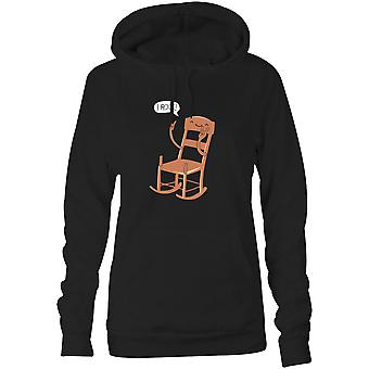 Womens Sweatshirts Hooded Hoodie- I Rock!