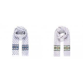 Intriga das mulheres/senhoras grande fronteira lenço de impressão floral