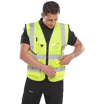 Portwest berlin vêtements de travail exécutif salut vis gilet de sécurité s476