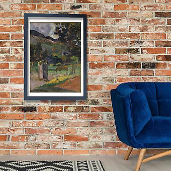 Paul Gauguin - Tahitian pejzaż plakat Giclee druku