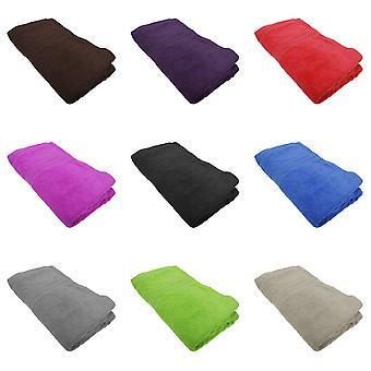 Jassz Beach/Bath Plain Sheet Towel 100cm x 180cm (350 GSM) (Pack of 2)