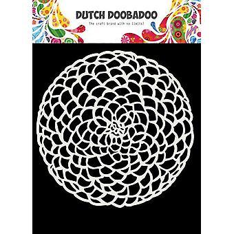 Hollantilainen Doobadoo Hollantilainen naamio Art 15x15cm Kukkaympyrä 470.715.617