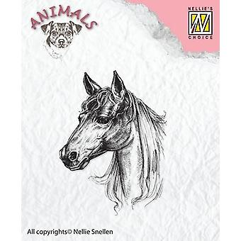 Nellie's Choice Clearstamp - horse ANI018 38x51mm