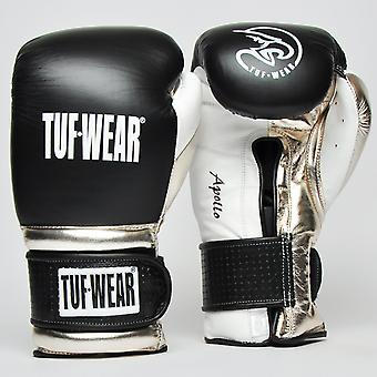 Tuf Wear Apollo Hook and Loop Metallic Leather Sparring Glove Black / White / Rose Gold