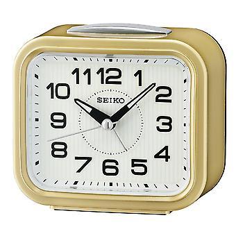 Seiko klok wekker plastic-Matallic goud (QHK050G)