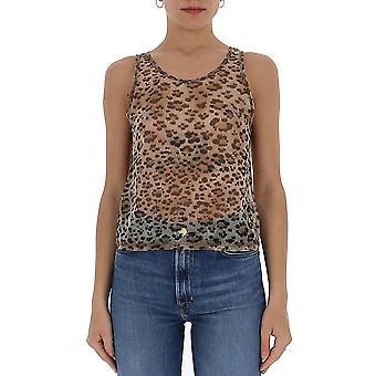 R13 R13w759913j Women's Leopard Polyester Top
