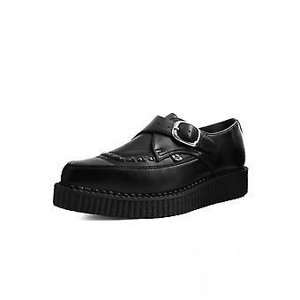 TUK Shoes Black TUKskin™ Pointed Buckle Creeper