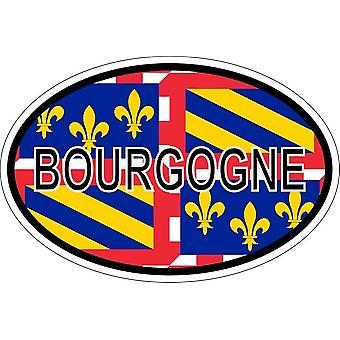 ملصقا بيضاوي االبيضاوي رمز العلم البلد بورجوندي قسم