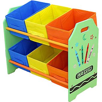 Kiddi Style Crayon 6 Box Storage Unit