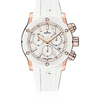 Edox - Rannekello - Naiset - CO-1 - Chronolady - 10225 37RB BIR