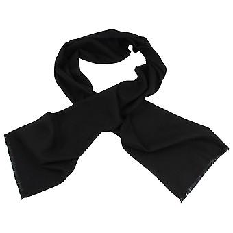 Johnstons of Elgin Extra Fine Merino Wool Scarf - Black