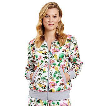1202017-16072 Femmes-apos;s Be Happy Veste multicolore Jungle Floral Loungewear