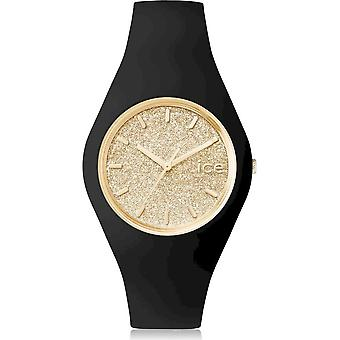 Ice Watch Watch Unisex ICE glitter Svart Guld Medium 001355