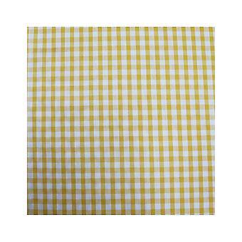 Mio HB2 Gingham Yellow Check Cotton Face Mask with Removable Filter and Nose Wire