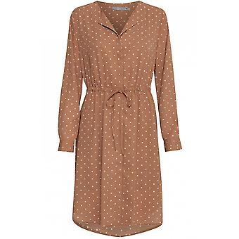 b.young Mandel Spot Print Skjorte Kjole