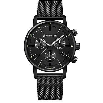 Wenger Metropolitan Chronograph Black Dial Black Stainless Steel Bracelet Men's Watch 01.1743.116 RRP £259