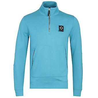 MA.Strum Dark Iceberg Blue Zip Neck Training Sweatshirt