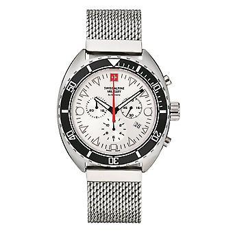 Reloj suizo alpine militar hombre cronógrafo analógico cuarzo 7066.9132SAM acero inoxidable