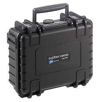 B&W Outdoor Case Typ 500, Leer, Schwarz