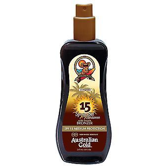 Australian Gold Spray Gel with Bronzer SPF 15 237 ml