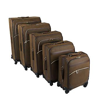 Kangol 4 Wheel Resväska Set 18/22/26/30/34 Inch Resor Bagage Top Handle