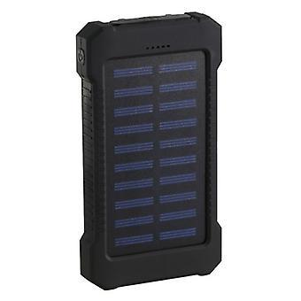 Stuff Certified® Solar Charger 30,000mAh External Power Bank Solar Panel Emergency Battery Chargeur Noir
