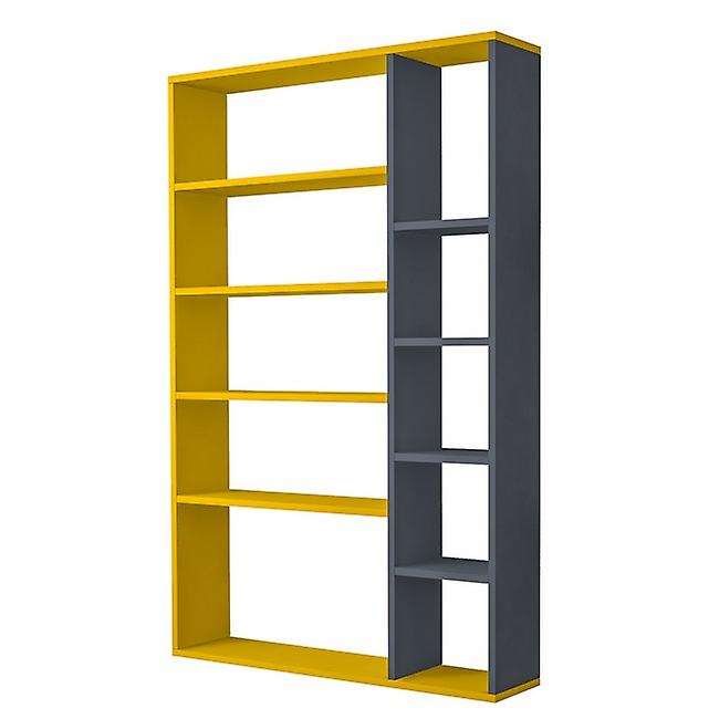 Nova Color Yellow Library, Anthrathic in Melaminic Chip 98.6x22x150 cm