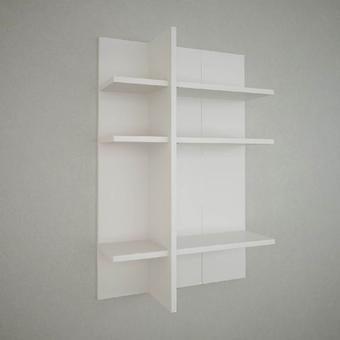 Mensola Ketoj Color Bianco in Truciolare Melaminico 60x22x90 cm