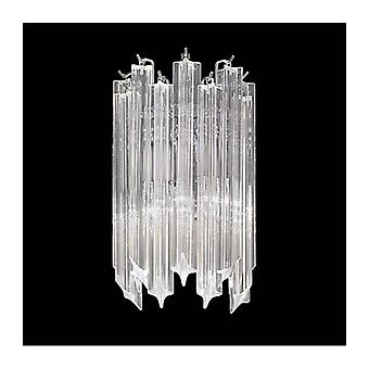 Chrome Wall Light In Crystal Valentina 2 Lampen