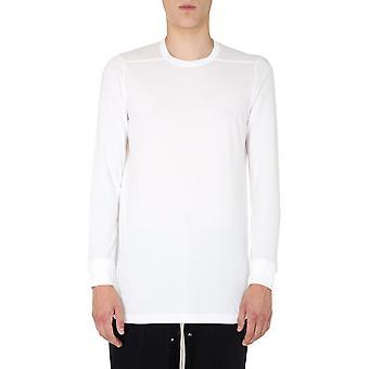 Rick Owens Ru20f3266ja110 Men's White Cotton Sweater