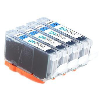 4 cartouches d'encre d'imprimante HP 364C compatibles Cyan (HP364XL)