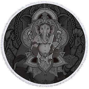 Harmaa Ganesh ranta pyyhe