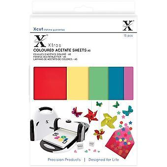 Xcut Xtra A5 ورقة خلات ملونة (15pcs) (XCU 174401)