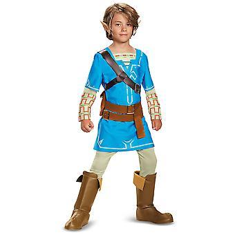 Länka andedräkt av vilda Deluxe Zelda Nintendo spel barn pojkar kostym