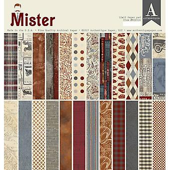 Authentique Mister 12x12 pulgadas de papel Pad