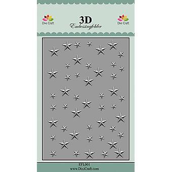 Dixi Craft Stjärnor 1 Relief mapp