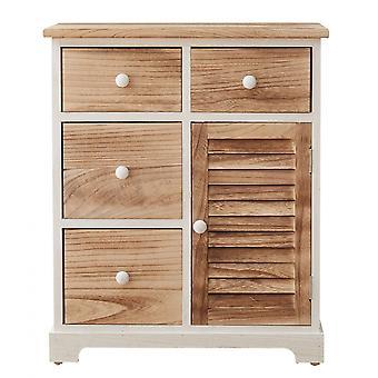 Rebecca Furniture Drawer Belief White Wood 4 Drawers 1 Anta 70x60x30