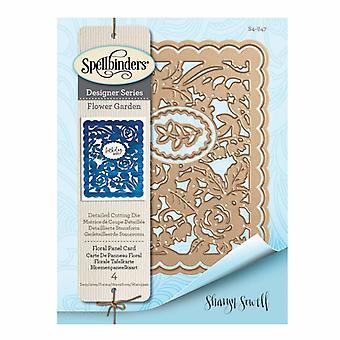Spellbinders Designer -sarjan kukkapaneelikortti