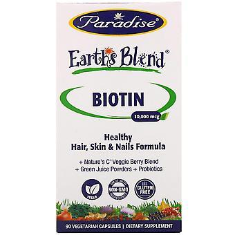 Paradise Herbs, Earth's Blend, Biotin, 10,000 mcg, 90 Vegetarian Capsules