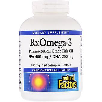 Natural Factors, Rx Omega-3, 120 Enteripure Softgels