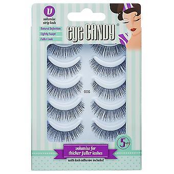 Eye Candy False Eyelashes Multipack - Style 006 - Natural Looking Volume