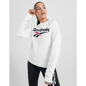 New Reebok Women's Vector Classic Crew Sweatshirt White